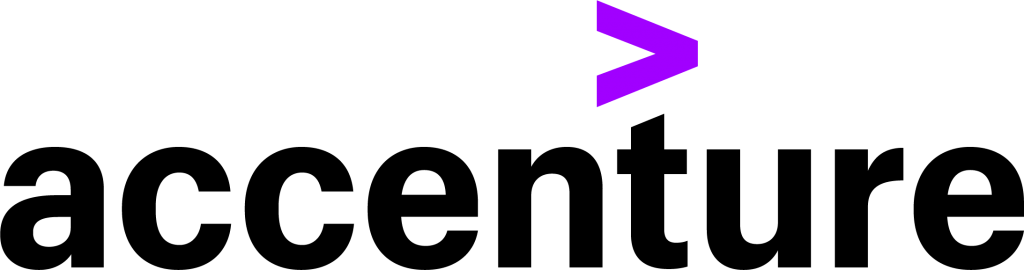 Accenture logo preto-roxo